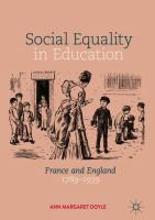 Cover image for Social Equality in Education France and England 1789–1939