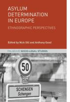 Cover image for Asylum Determination in Europe Ethnographic Perspectives