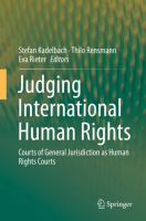 Cover image for Judging International Human Rights Courts of General Jurisdiction as Human Rights Courts