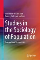 Cover image for Studies in the Sociology of Population International Perspectives