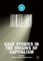 Cover image for Case Studies in the Origins of Capitalism