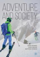 Cover image for Adventure and Society