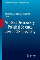 Cover image for Militant Democracy – Political Science, Law and Philosophy