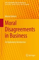 Cover image for Moral Disagreements in Business An Exploratory Introduction