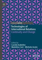 Cover image for Technologies of International Relations           Continuity and Change