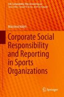 Cover image for Corporate Social Responsibility and Reporting in Sports Organizations