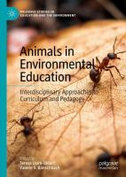 Cover image for Animals in Environmental Education Interdisciplinary Approaches to Curriculum and Pedagogy