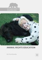 Cover image for Animal Rights Education