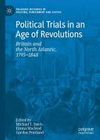 Cover image for Political Trials in an Age of Revolutions Britain and the North Atlantic, 1793-1848