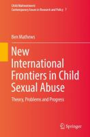 Cover image for New International Frontiers in Child Sexual Abuse Theory, Problems and Progress