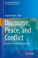 Cover image for Discourse, Peace, and Conflict Discursive Psychology Perspectives