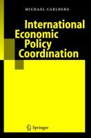 Cover image for International Economic Policy Coordination