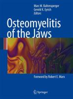Cover image for Osteomyelitis of the Jaws