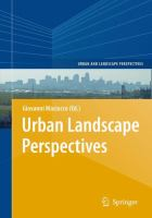 Cover image for Urban Landscape Perspectives