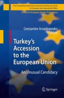 Cover image for Turkey's Accession to the European Union An Unusual Candidacy