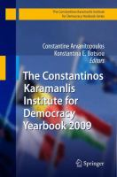 Cover image for The Constantinos Karamanlis Institute for Democracy Yearbook 2009