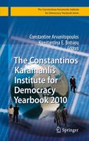 Cover image for The Constantinos Karamanlis Institute for Democracy Yearbook 2010