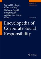 Cover image for Encyclopedia of Corporate Social Responsibility