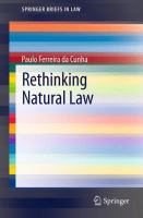 Cover image for Rethinking Natural Law