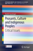 Cover image for Peasants, Culture and Indigenous Peoples Critical Issues
