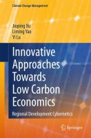 Cover image for Innovative Approaches Towards Low Carbon Economics Regional Development Cybernetics