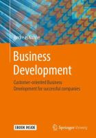 Cover image for Business Development Customer-oriented Business Development for successful companies