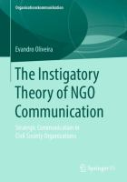 Cover image for The Instigatory Theory of NGO Communication Strategic Communication in Civil Society Organizations