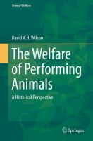 Cover image for The Welfare of Performing Animals A Historical Perspective