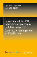 Cover image for Proceedings of the 19th International Symposium on Advancement of Construction Management and Real Estate