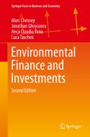 Cover image for Environmental Finance and Investments