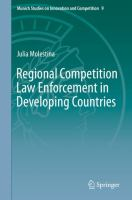 Cover image for Regional Competition Law Enforcement in Developing Countries