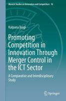 Cover image for Promoting Competition in Innovation Through Merger Control in the ICT Sector A Comparative and Interdisciplinary Study