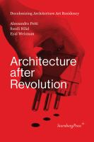 Cover image for Architecture after revolution