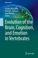 Cover image for Evolution of the Brain, Cognition, and Emotion in Vertebrates