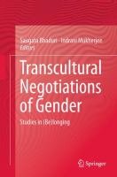 Cover image for Transcultural Negotiations of Gender Studies in (Be)longing