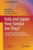 Cover image for Italy and Japan: How Similar Are They? A Comparative Analysis of Politics, Economics, and International Relations