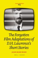 Cover image for The forgotten film adaptations of D.H.Lawrence's short stories