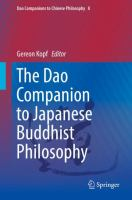Cover image for The Dao Companion to Japanese Buddhist Philosophy