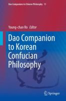 Cover image for Dao Companion to Korean Confucian Philosophy