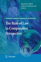 Cover image for The Rule of Law in Comparative Perspective