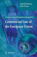 Cover image for Commercial Law of the European Union