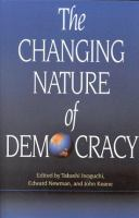Cover image for The changing nature of democracy