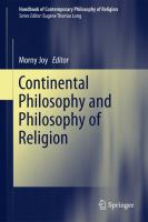 Cover image for Continental Philosophy and Philosophy of Religion