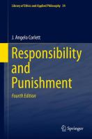 Cover image for Responsibility and Punishment