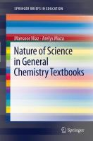 Cover image for Nature of Science in General Chemistry Textbooks