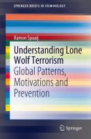 Cover image for Understanding Lone Wolf Terrorism Global Patterns, Motivations and Prevention