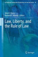 Cover image for Law, Liberty, and the Rule of Law