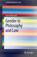 Cover image for Gender in Philosophy and Law