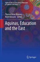 Cover image for Aquinas, Education and the East