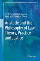 Cover image for Aristotle and The Philosophy of Law: Theory, Practice and Justice